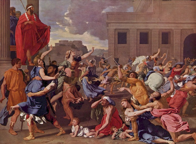 abduction of the sabine women essay Through the act of abduction the sabine women are brought within the sphere of the roman family combining 'the ritual of marriage by capture with the guarantee of the purity of rome's first mothers' (fantham et al 1994:217).